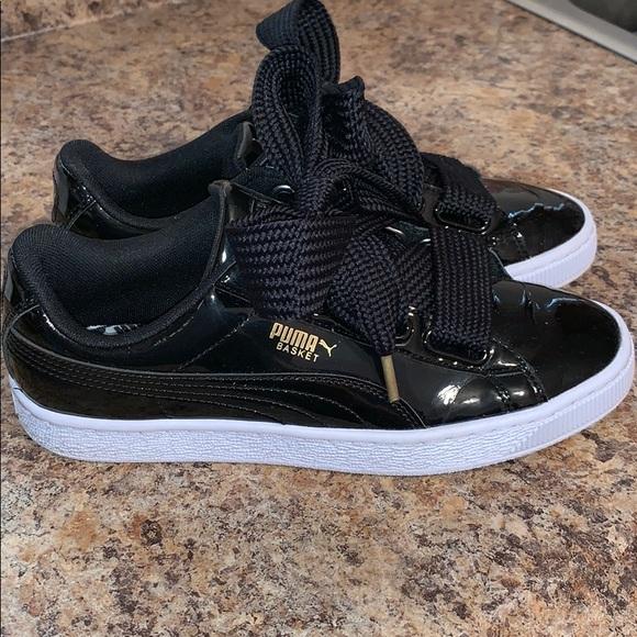 size 40 352c0 bc9bb Puma basket tennis shoes patent leather